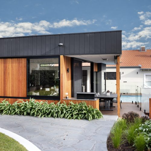 black zinc silvertop ash timber cladding