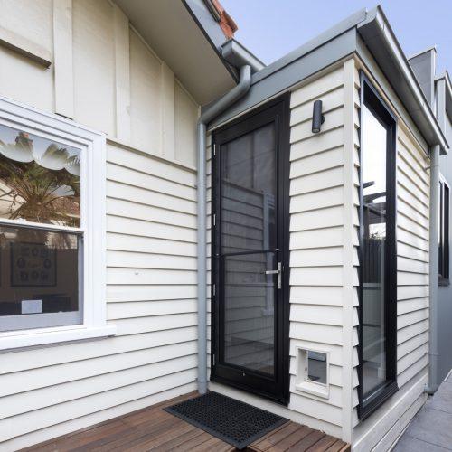 dog door, services deck